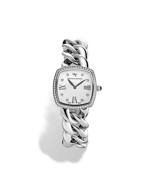 David Yurman - Metallic Albion 27mm Stainless Steel Quartz Watch With Diamonds - Lyst