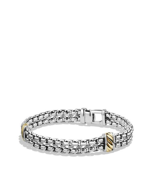 David Yurman - Metallic Cable Classic Two-row Chain Bracelet With 18k Gold for Men - Lyst