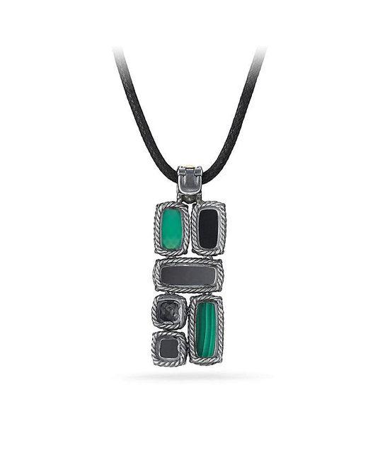 David Yurman - Metallic Chatelaine Small Mosaic Pendant Necklace With 18k Gold - Lyst