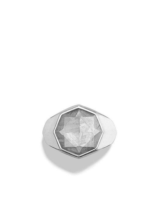 David Yurman   Metallic Meteorite Signet Ring for Men   Lyst