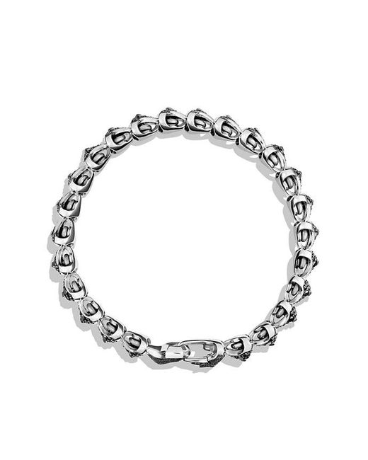 David Yurman | Armory Single Row Link Bracelet With Black Diamonds for Men | Lyst