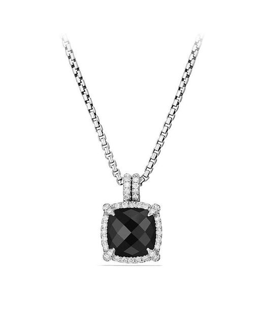 David Yurman - Multicolor Châtelaine Pave Bezel Pendant Necklace With Black Onyx And Diamonds, 9mm - Lyst
