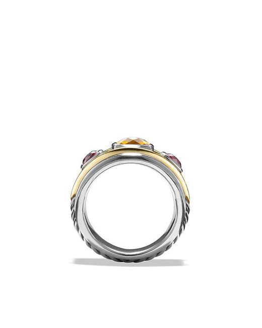 David Yurman - Metallic Renaissance Ring With Citrine, Rhodalite Garnet And 14k Gold - Lyst