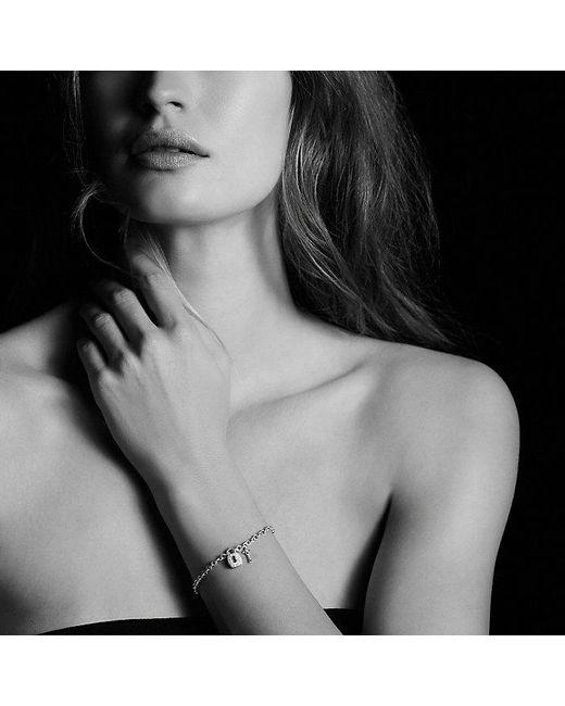 David Yurman - Metallic Cable Collectibles Lock And Key Charm Bracelet With Diamonds - Lyst