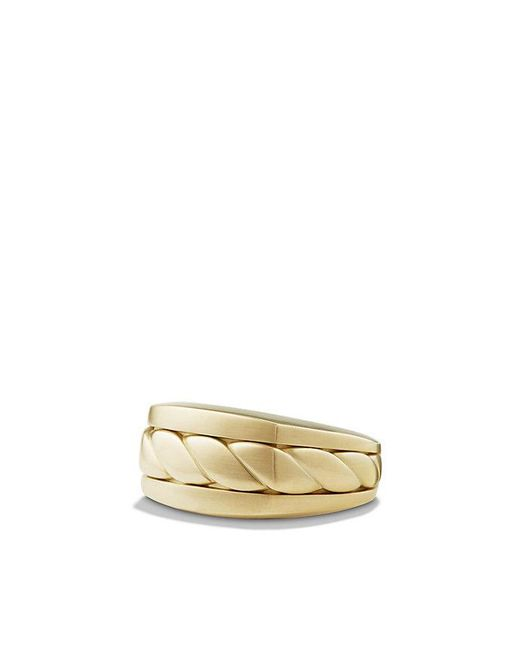 David Yurman - Metallic Cable Classics Signet Ring In 18k Gold - Lyst