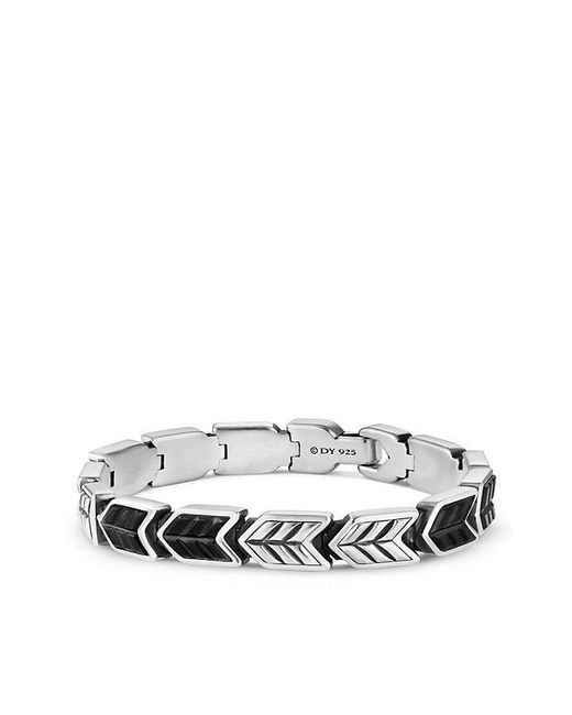 David Yurman - Chevron Link Bracelet With Black Onyx, 9mm - Lyst