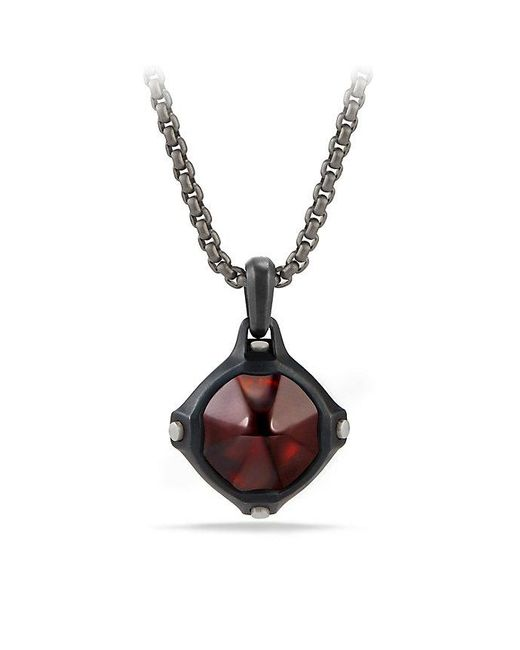 David Yurman - Multicolor Anvil Amulet With Hessonite Garnet - Lyst