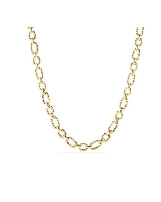 David Yurman - Metallic Cushion Link Necklace With Diamonds In 18k Gold, 9.5mm - Lyst