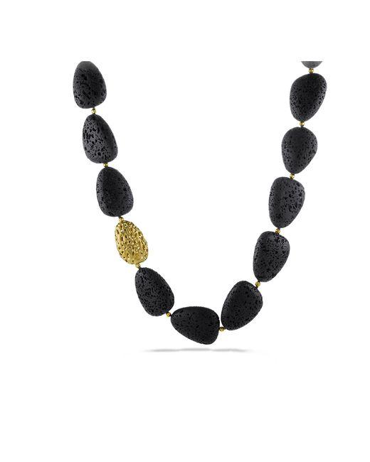 David Yurman - Metallic Dy Signature Lava Necklace With 18k Gold - Lyst