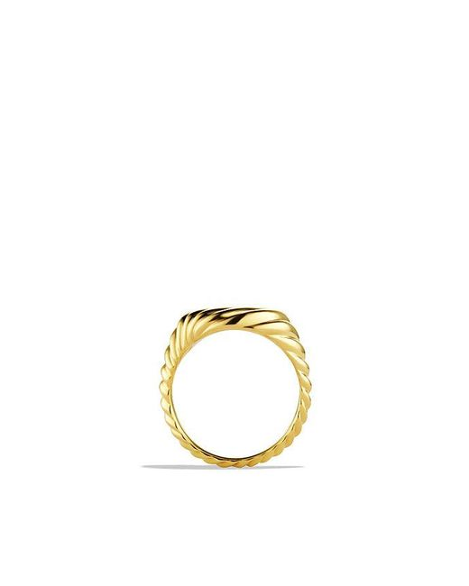 David Yurman - Metallic Sculpted Cable Pinky Ring In 18k Gold - Lyst