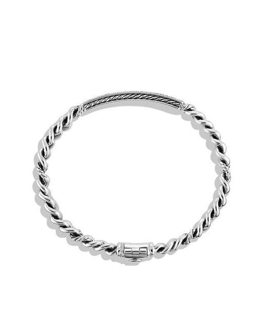 David Yurman | Petite Pavé Id Bracelet With Black Diamonds | Lyst