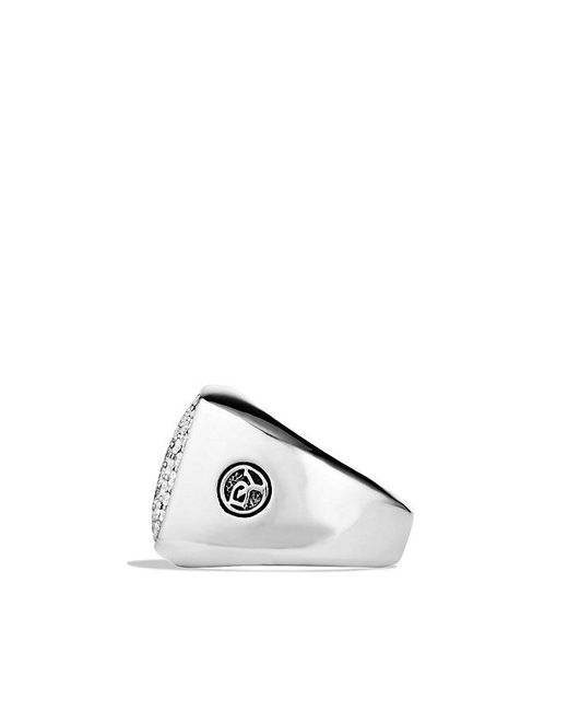 David Yurman | Metallic Pavé Signet Ring With Diamonds for Men | Lyst
