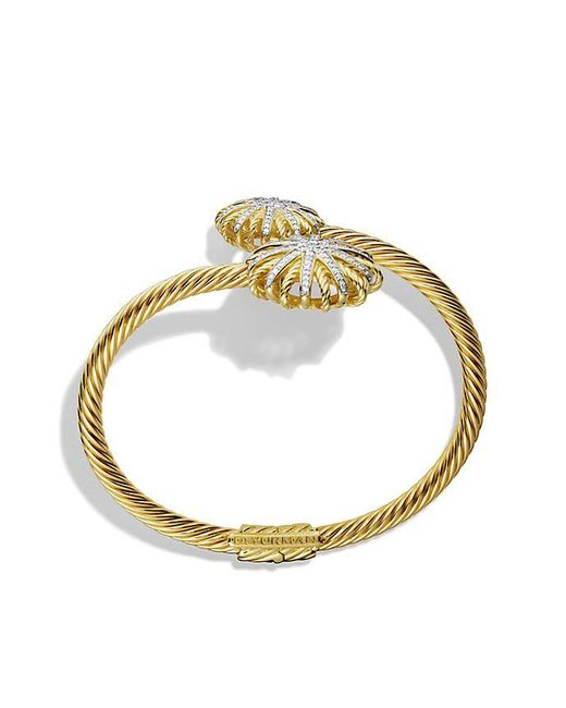 David Yurman - Metallic Bracelet With Diamonds In 18k Gold - Lyst
