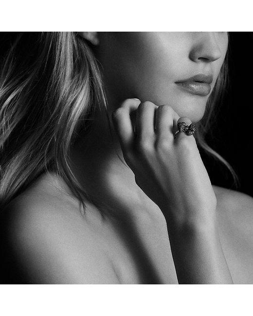 David Yurman | Metallic Dy Signature Mini Bow Ring With Diamonds In 18k White Gold | Lyst