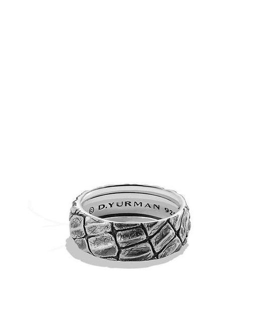 David Yurman | Black Naturals Gator Band Ring for Men | Lyst
