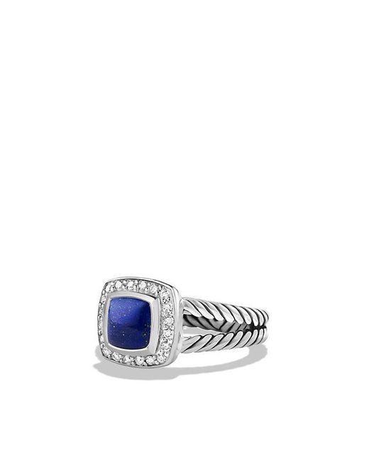 David Yurman | Blue Petite Albion® Ring With Lapis Lazuli And Diamonds | Lyst
