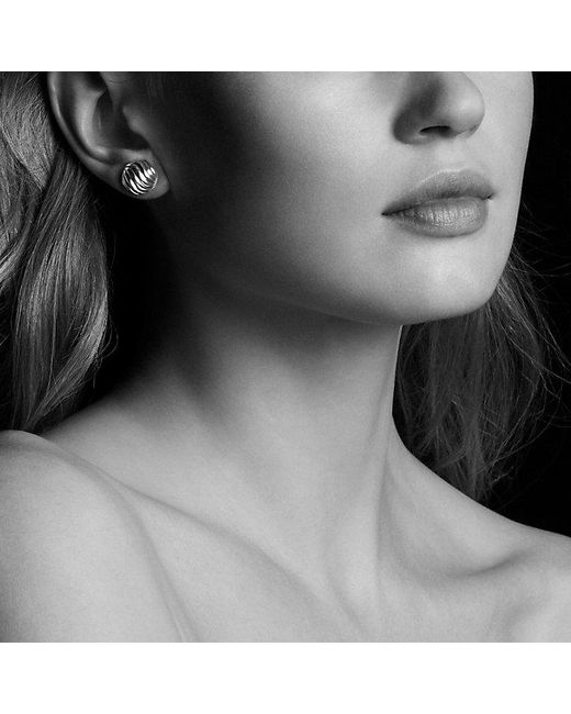 David Yurman | Metallic Sculpted Cable Earrings In 18k Rose Gold | Lyst