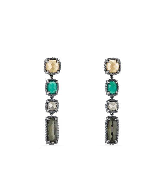 David Yurman - Green Chatelaine Mosaic Drop Earrings With 18k Gold - Lyst