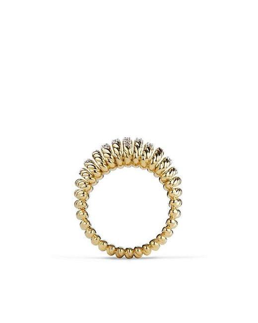 David Yurman - Metallic Tempo Ring With Diamonds In 18k Gold - Lyst
