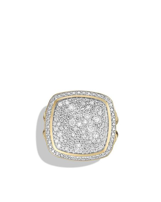 David Yurman - Metallic Albion® Ring With Diamonds In 18k Gold - Lyst