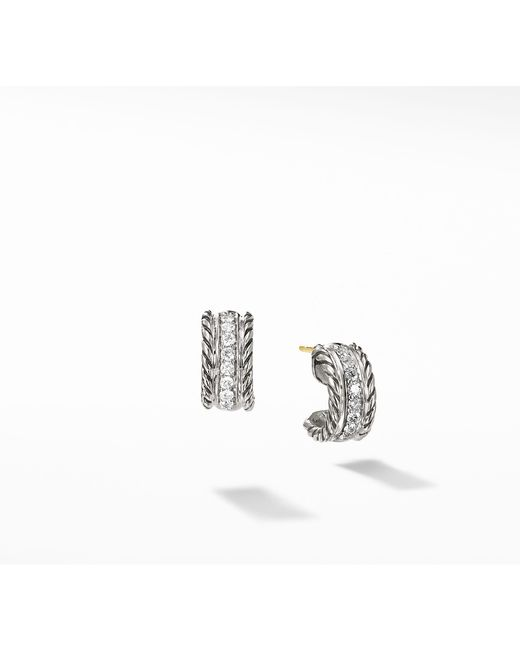 David Yurman - Multicolor Cable Classics Earrings With Diamonds - Lyst