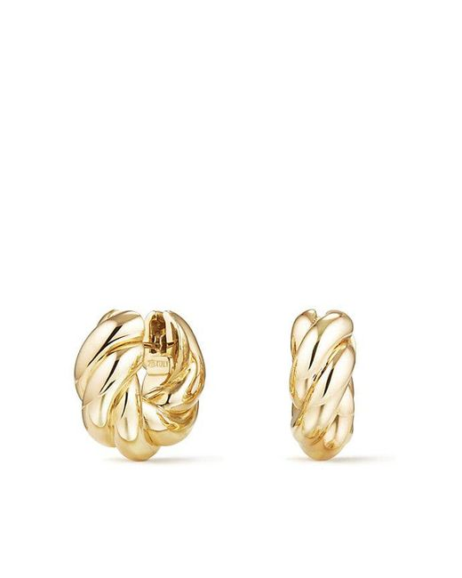 David Yurman - Metallic Sculpted Cable Small Earrings In 18k Gold - Lyst