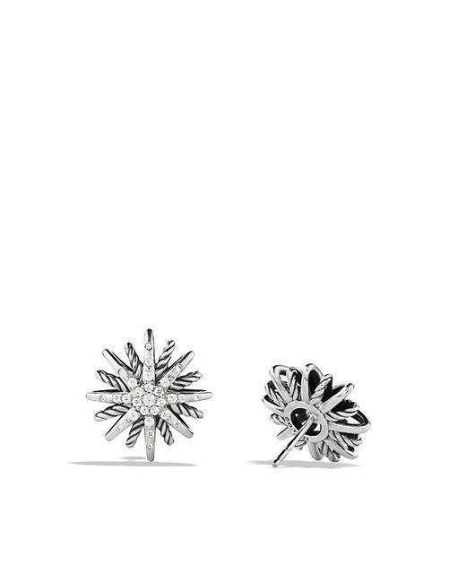 David Yurman | Metallic Starburst Earrings With Diamonds, 16mm | Lyst