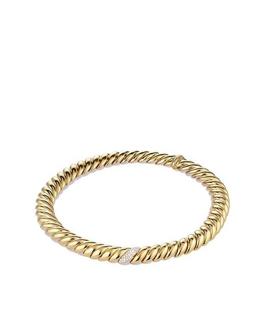 David Yurman - Metallic Hampton Cable Necklace With Diamonds In 18k Gold - Lyst