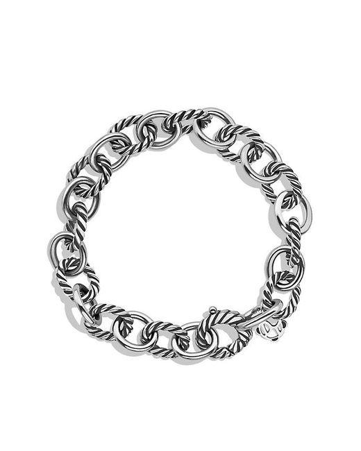 David Yurman - Metallic Medium Oval Link Bracelet - Lyst
