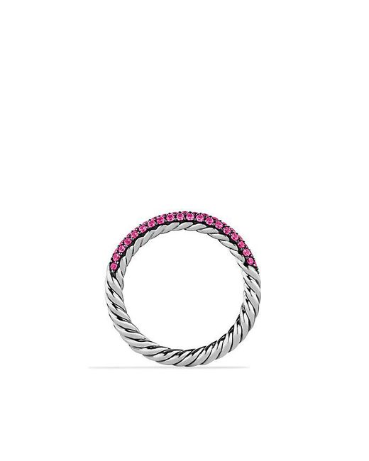 David Yurman | Petite Pavé Ring With Pink Sapphires | Lyst