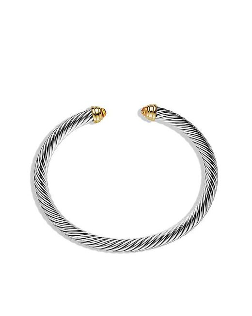 David Yurman | White Cable Classics® Bracelet With Citrine And 14k Gold, 5mm | Lyst