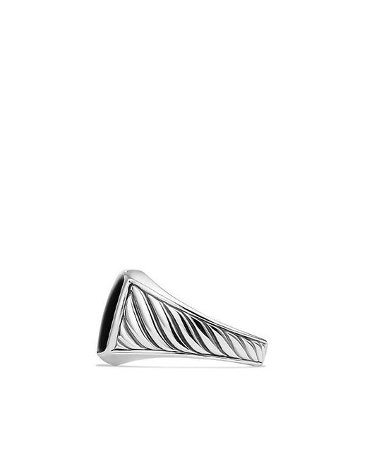 David Yurman | Cable Classics Signet Ring With Black Onyx | Lyst