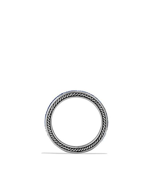 David Yurman | Streamline Two-row Band Ring With Blue Sapphire for Men | Lyst