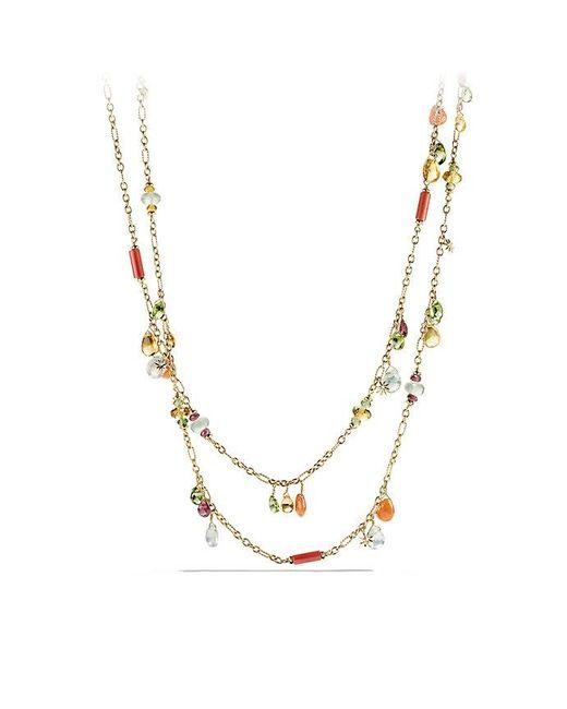 David Yurman | Metallic Bijoux Necklace With Citrine, Prenite And Peridot In 18k Gold | Lyst