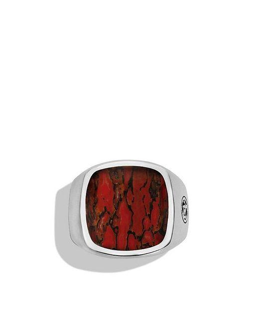 David Yurman | White Exotic Stone Signet Ring With Dinosaur Bone for Men | Lyst