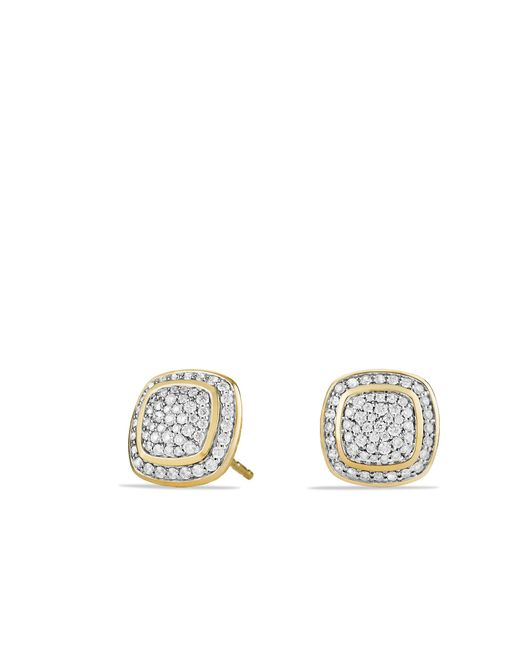 David Yurman - Metallic Albion® Earrings With Diamonds In 18k Gold - Lyst
