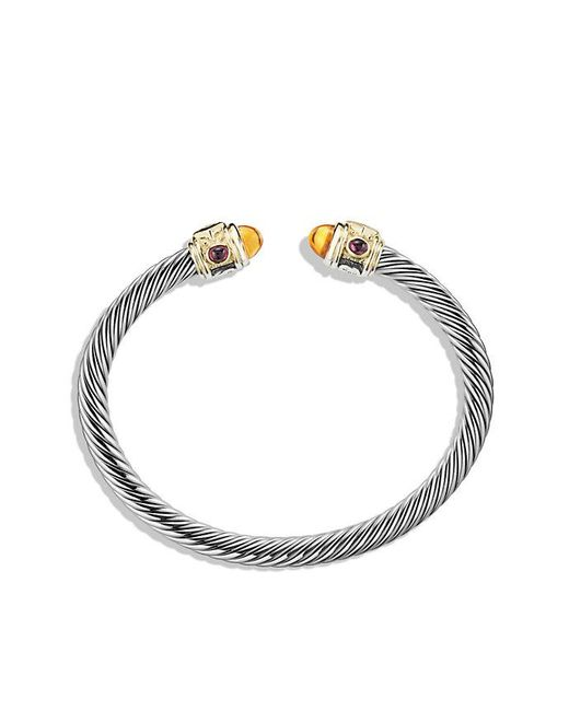 David Yurman | Metallic Renaissance Bracelet With Citrine, Rhodalite Garnet And 14k Gold, 5mm | Lyst