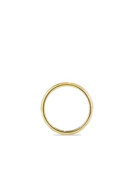 David Yurman | Metallic Dy Eden Narrow Band Ring In 18k Gold, 4mm for Men | Lyst