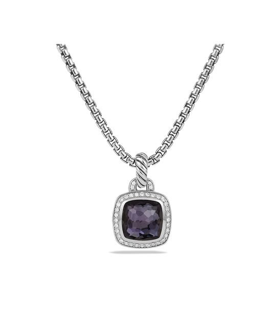 David Yurman - Albion® Pendant With Black Orchid And Diamonds, 11mm - Lyst