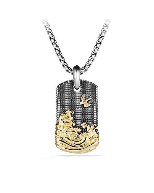 David Yurman | Metallic Waves Tag With 18k Gold for Men | Lyst