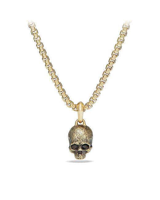 David Yurman - Metallic Cable Classics Skull Pendant In 18k Gold - Lyst