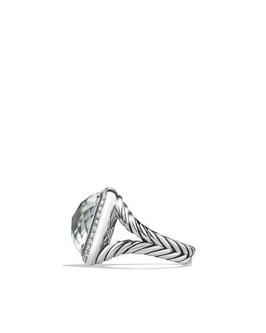 David Yurman - Metallic Albion® Ring With Prasiolite And Diamonds, 14mm - Lyst