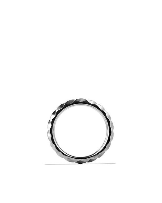 David Yurman | Modern Cable Narrow Band Ring In Gray Titanium, 6mm for Men | Lyst