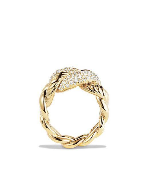 David Yurman - Metallic Belmont Ring With Diamonds In 18k Gold - Lyst