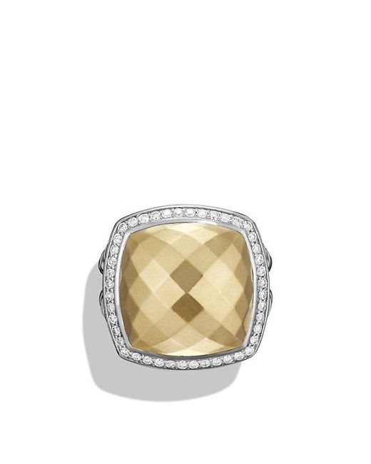 David Yurman | Metallic Albion® Ring With Diamonds And 18k Gold, 17mm | Lyst
