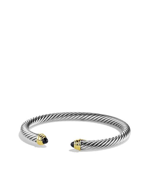 David Yurman | Cable Classics Bracelet With Black Onyx And 14k Gold, 5mm | Lyst