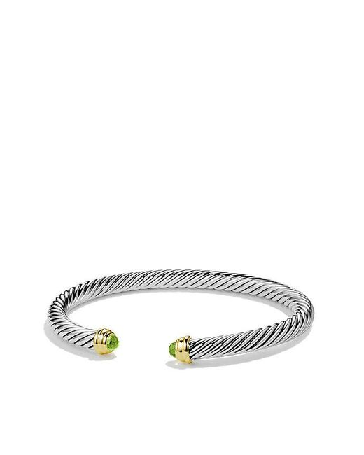 David Yurman | Metallic Cable Classics® Bracelet With Peridot And 14k Gold, 5mm | Lyst