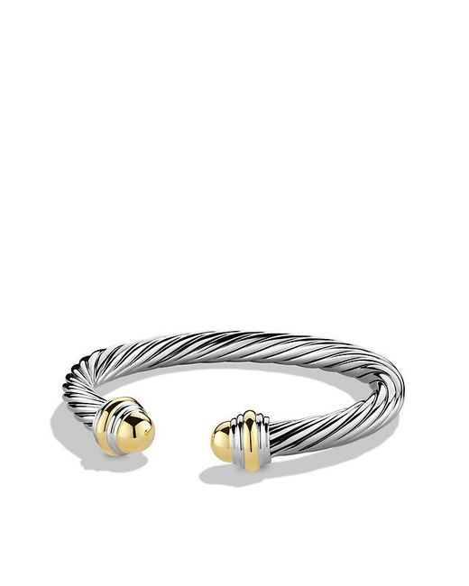 David Yurman | Metallic Cable Classic Bracelet With 14k Gold, 7mm | Lyst