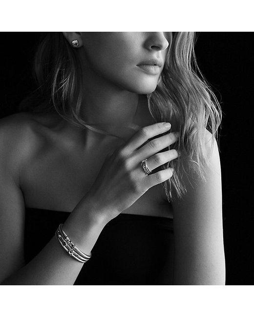 David Yurman   Metallic Cable Classic Buckle Bracelet With 18k Gold, 5mm   Lyst