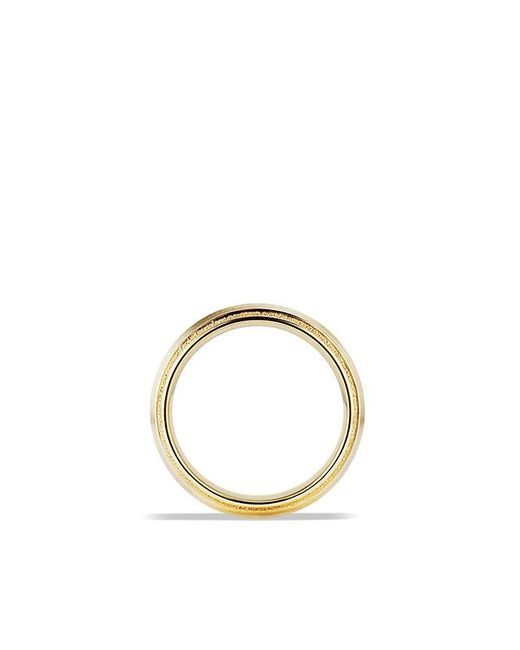 David Yurman - Metallic Knife Edge Band Ring In 18k Gold, 8mm for Men - Lyst